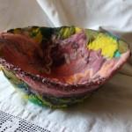 Close-Up of Beading Embellishment, Felted Bowl